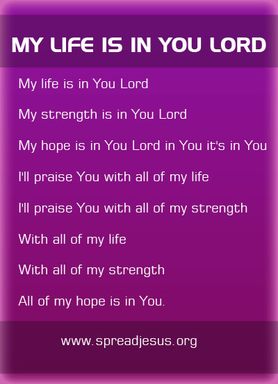 My Life Is In You Lord