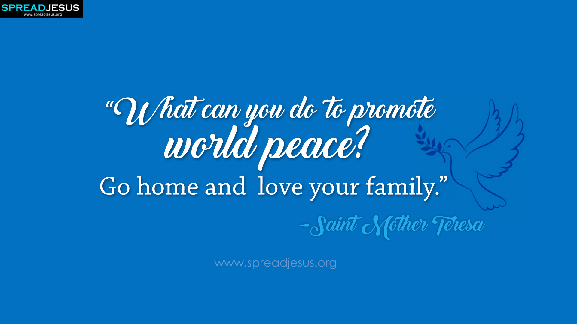 Saint Mother Teresa Quotes HD-Wallpaper promote world peace?