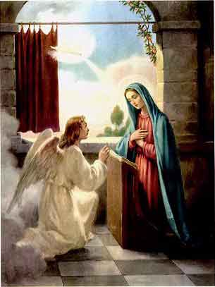 THE HOLY ROSARY The Joyful Mysteries (Monday and Saturday) 1st joyful mystery - The Annunciation of the Angel to Mary