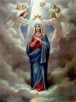 THE HOLY ROSARY The Glorious Mysteries (Wednesday and Sunday) 5th glorious mystery - The Coronation of the Blessed Virgin Mary, Queen of Heaven and Earth
