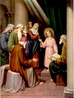 THE HOLY ROSARY The Joyful Mysteries (Monday and Saturday) 5th joyful mystery - The finding of Jesus in the Temple