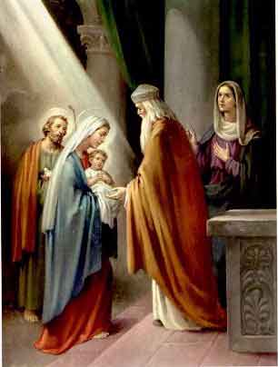 THE HOLY ROSARY The Joyful Mysteries (Monday and Saturday) 4th joyful mystery - The presentation of Jesus to the Temple