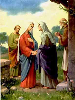 The visitation of Mary to Saint Elizabeth