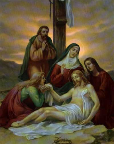 Jesus Is Taken Down From the Cross and Laid in the Arms of His Blessed Mother