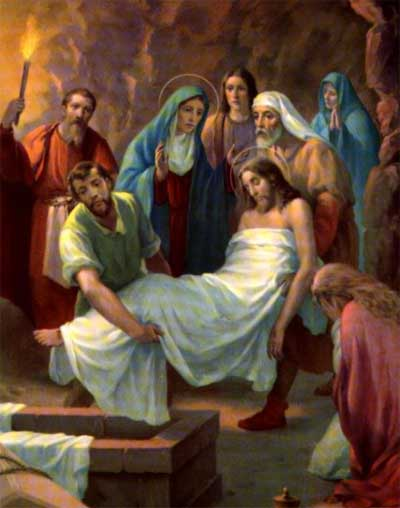 Jesus Is Laid in the Sepulcher