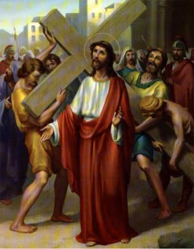 Jesus Receives and Carries His Cross