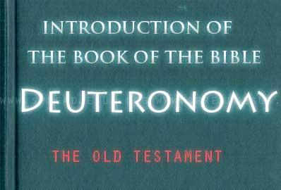 The book Of The Bible Deuteronomy The book of Deuteronomy is an extended testimony or address of Moses to the people of Israel just prior to their entry into the promised land.