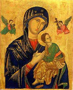 Novena Prayer To Our Lady Of Peretual Help O Mother of Perpetual Help, behold at your feet a wretched sinner who trustfully turns to you. Mother of Mercy, have pity on me.