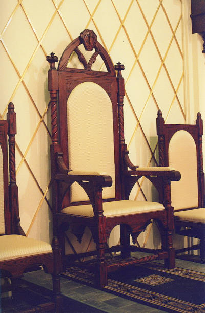 "Signs and Symbols-The Chair The Chair - ""The chair for the priest celebrant must signify his office of presiding"