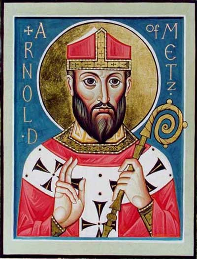 st.Arnulf of Metz-Bishop and member of the Frankish court