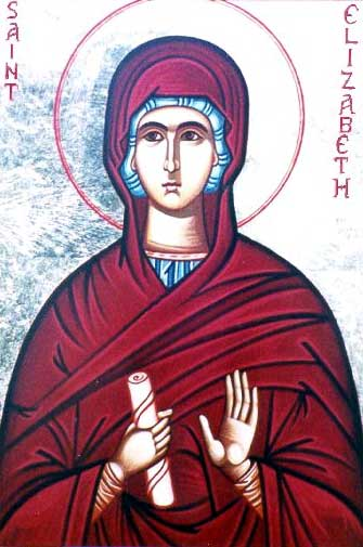 st.Elizabeth (first century)-Mother of St. John the Baptist and kinswoman of the Blessed Virgin Mary
