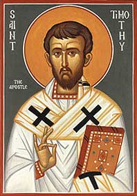 st.Timothy-Disciple of St. Paul; Evangelist; by tradition, the first bishop of Ephesus; martyr