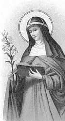 st.Catherine of Sweden-Daughter of St. Bridget of Sweden and cofounder of the Brigittines