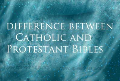 What is the difference between Catholic and Protestant Bibles? The differences between Protestant and Catholic translations of the Bible are in the Old Testament or Hebrew Scriptures.