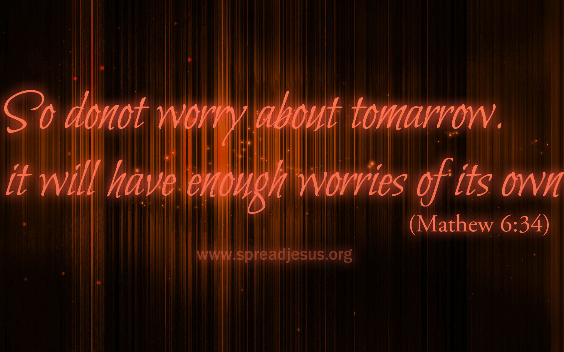 Bible Quotes-MATTHEW 6:34