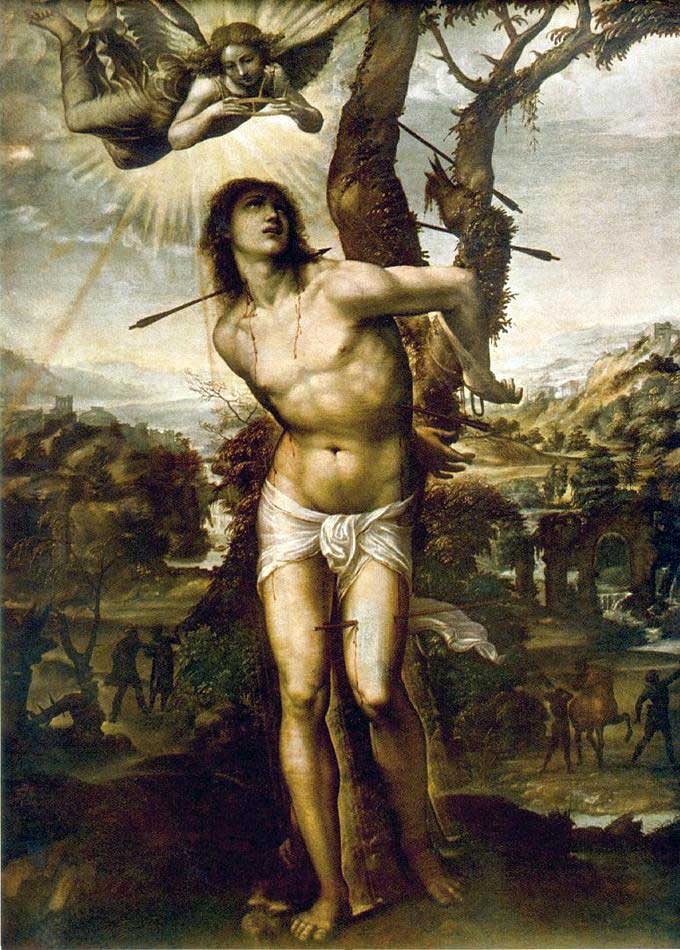 st.Sebastian-Roman martyr famed for the manner in which he died