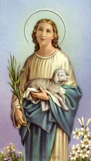 St.Agnes of Rome-Virgin and martyr Name meaning Pure one