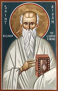 St.Aidan of Lindisfarne-Bishop and monastic founder
