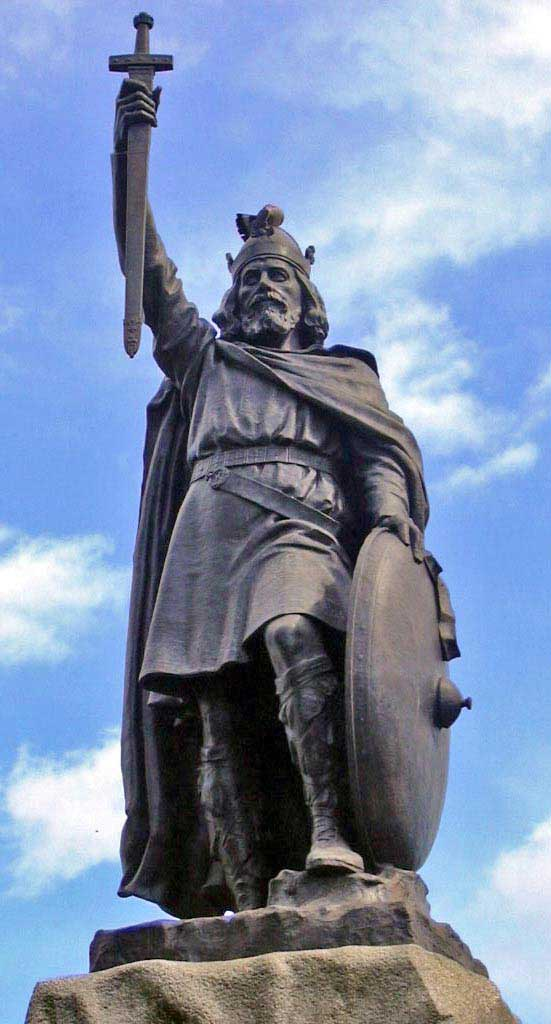 st.Alfred the Great-Anglo-Saxon king of Wessex