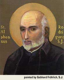 st.Alphonsus Rodriguez-Widower, door-man and mystic
