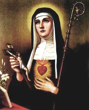 st.Gertrude the Great-Benedictine mystic