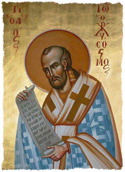 st.John Chrysostom-Doctor of the Church, Greek Father of the Church, bishop of Constantinople, esteemed theologian