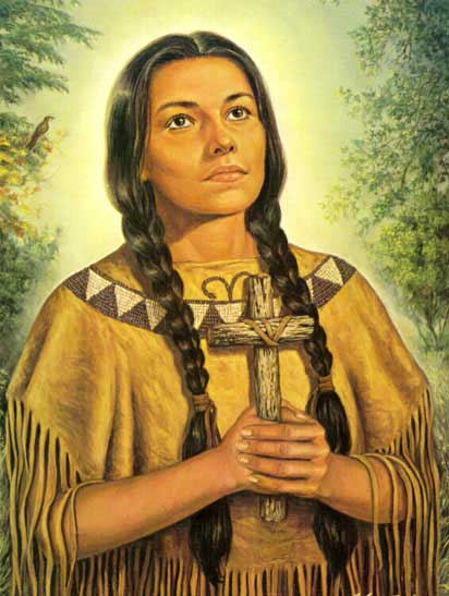 st.Kateri Tekakwitha, Blessed-Indian mystic and convert