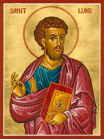 st.Luke the Evangelist (Author of the third gospel and of the Acts of the Apostles) Patronage: art guilds; art schools; artists; bookbinders; brewers; butchers; butlers; doctors; glass makers; goldsmiths; lacemakers; notaries; painters; physicians; sculptors; stained-glass workers; surgeons