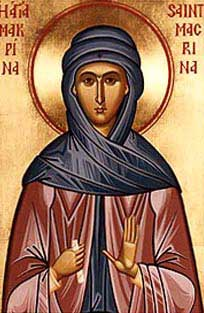 st.Macrina the Younger-Granddaughter of Macrina the Elder and sister of SS. Basil the Great, Gregory of Nyssa and Peter Sebaste