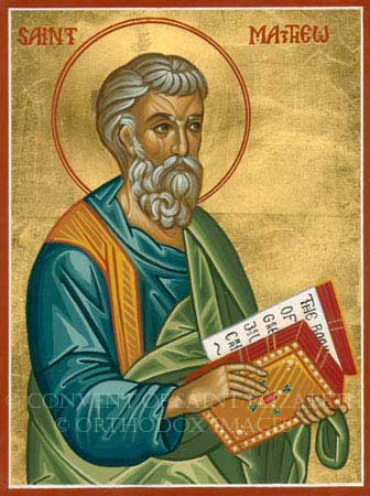 st.Matthew the Apostle-One of Jesus' Twelve Disciples, author of the first book of the New Testament, martyr