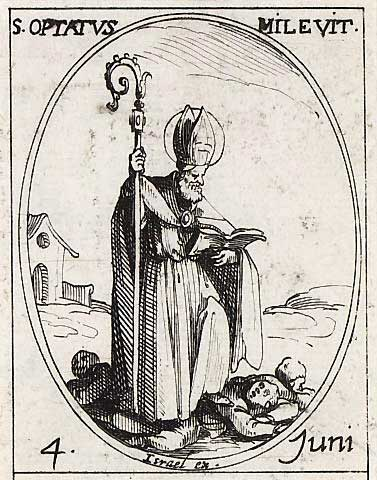 st.Optatus of Milevis-Bishop of Milevis, Father of the Church