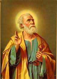 st.Peter-Recognized chief of Jesus' Twelve Disciples; head of the Christian Church after the Ascension, the first pope, martyr