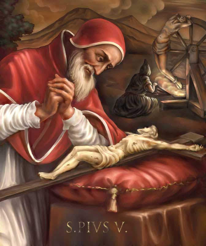 st.Pius V-Dominican monk, Inquisitor general, pope
