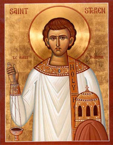 st.Stephen (Revered as the first martyr, and the most famous deacon in the early Christian Church) Patronage: bricklayers; deacons; stonemasons -spreadjesus.org