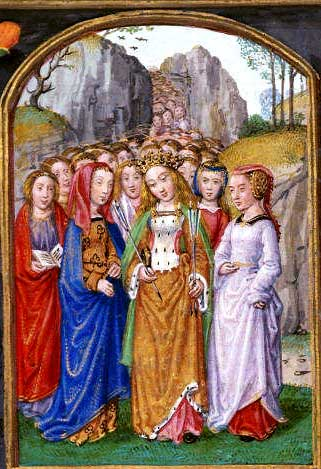 st.Ursula-Legendary martyred virgin whose cult has been suppressed