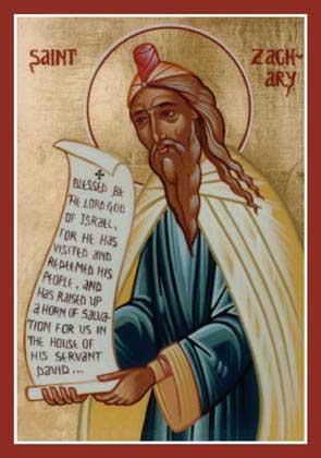 st.Zachary-Father of St. John the Baptist