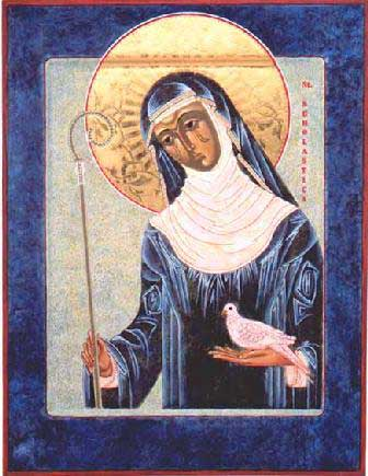 st.Scholastica-Benedictine sister, abbess and twin sister of St. Benedict of Nursia, considered to be the first Benedictine nun
