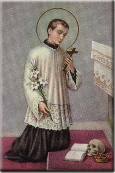 st.Aloysius Gonzaga-Scholar and patron of youth