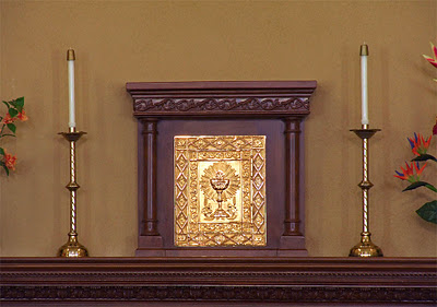 "The Tabernacle -Signs and Symbols The Tabernacle - ""In accordance with the structure of each church and legitimate local customs,"