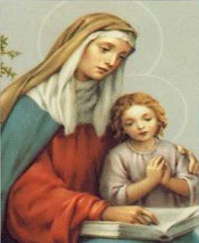 Prayer To Saint  Anne,The Mother Of  Mary