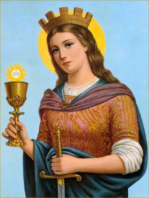 st.Barbara-Legendary martyr of enduring popularity, despite the suppression of her cult in 1969