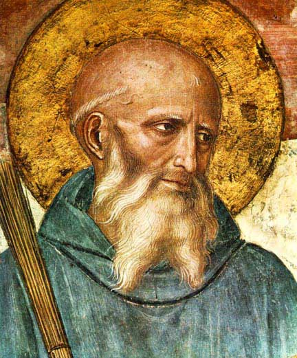 st.Benedict-Father of Western monasticism and founder of the Benedictines