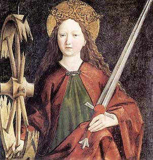 st.Catherine of Alexandria-Virgin and martyr whose cult was suppressed in 1969