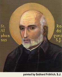 st.Alphonsus Rodriguez-Widower, door-man and mystic