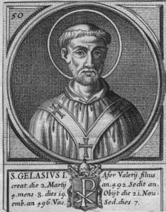 st.Gelasius I-Pope