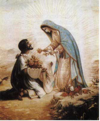 st.Juan Diego-Aztec Indian who saw one of the few accepted apparitions of the Virgin Mary