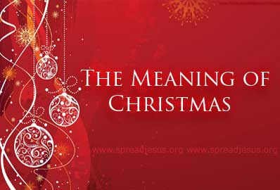 Spelling  Meaning  of Christmas