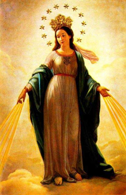 What is the significance of the twelve stars on Mary's crown?